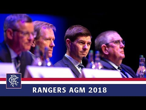 RANGERS AGM 2018 | Manager's Message
