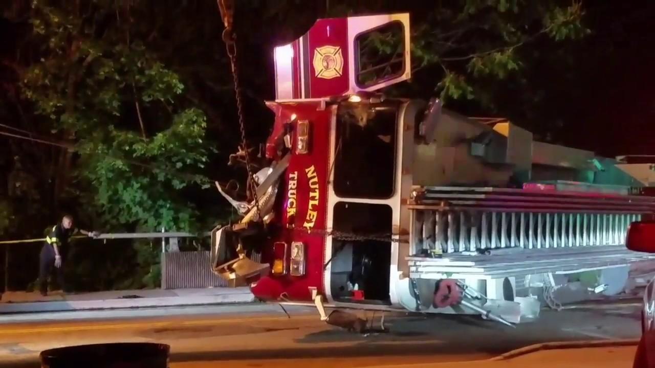 Truck Max Miami >> Fire Truck Crash W/ Roll Over /Recovery/Audio Nutley Nj FD ...