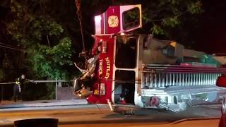 Fire Truck Crash W/ Roll Over /Recovery/Audio Nutley Nj FD Ladder 1 6-17-17