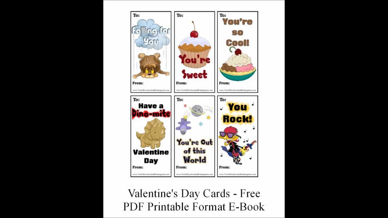 free printable worksheet style valentine day cards for preschool