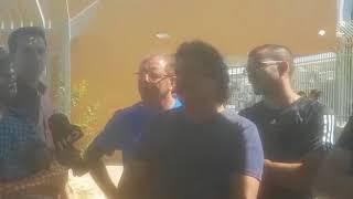 עובדי נגב קרמיקה עם ח''כ מאיר כהן / צילום: דן בונבידה - מביט דימונה / ברנז'ה חדשות