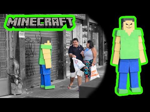 PEGADINHA - MINECRAFT - ASSUSTANDO PESSOAS - Minecraft Prank
