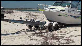 Boat retrieval Ledge Point Western Australia