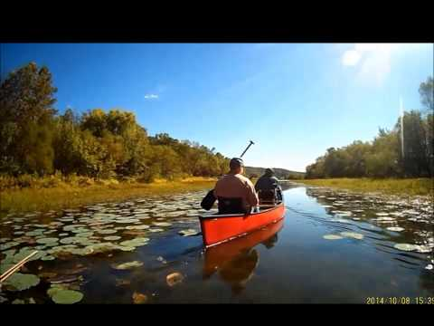 Lake Monroe canoe camping October 2014 Bloomington Indiana