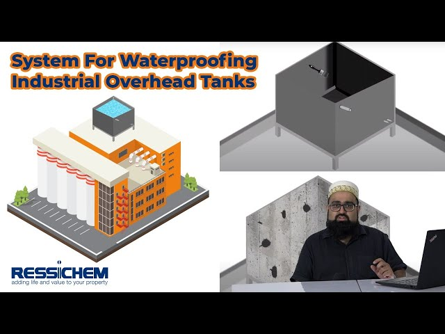 Proposed System for the waterproofing of Industrial Overhead tanks   Ressichem #Waterproofing.