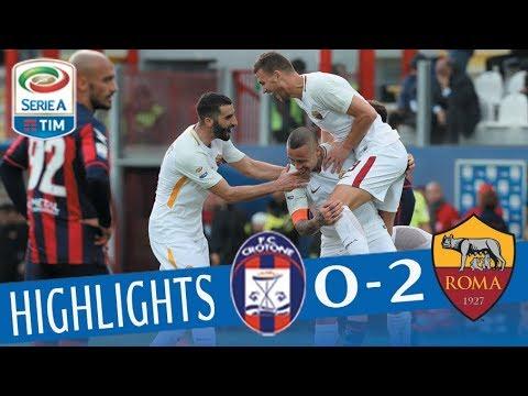 Crotone - Roma 0-2 - Highlights - Giornata 29 - Serie A TIM 2017/18