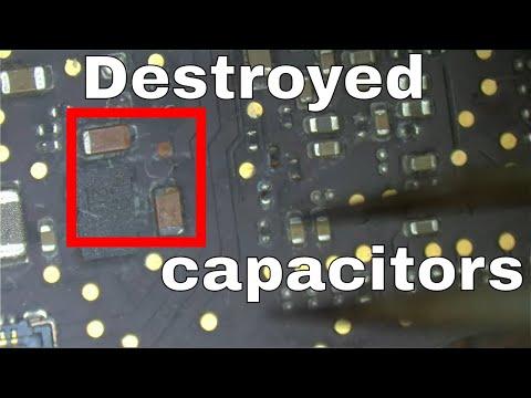 Liquid on capacitors kill Retina Macbook Pro