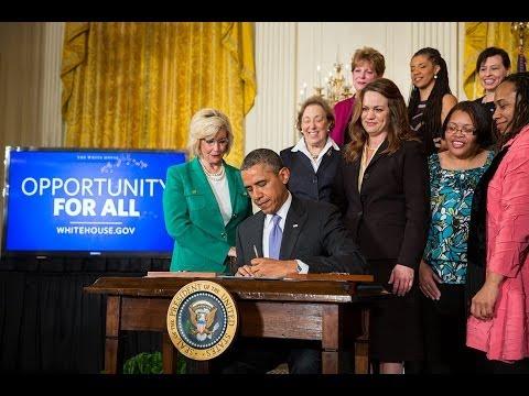 President Obama Speaks on Equal Pay for Equal Work