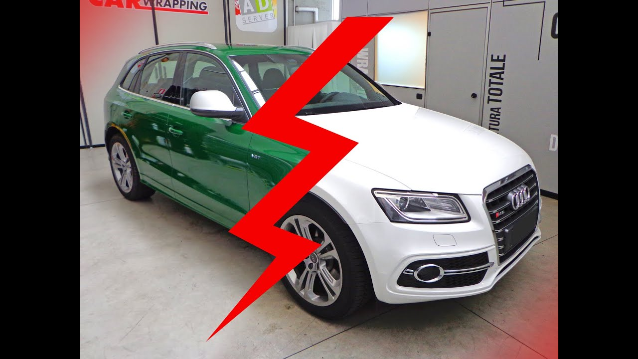 Car wrapping q5 dark green youtube for T green srl