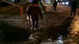 Потоп на улице 2-я Железнодорожная в Иркутске