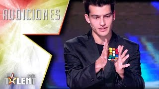 Raymon solves a Rubik's Cube… with his tongue! | Auditions 7 | Spain's Got Talent 2017