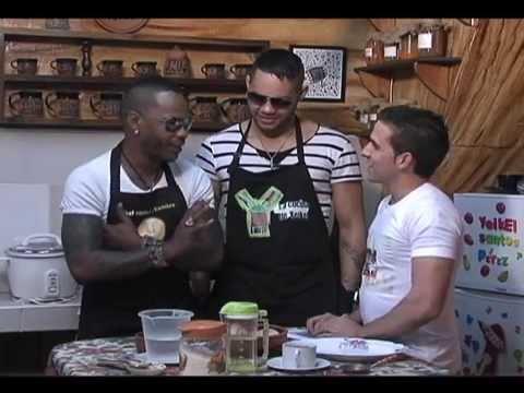 En la cocina de Yeikel con los cantantes el  Príncipe y Damián 25 02 2012