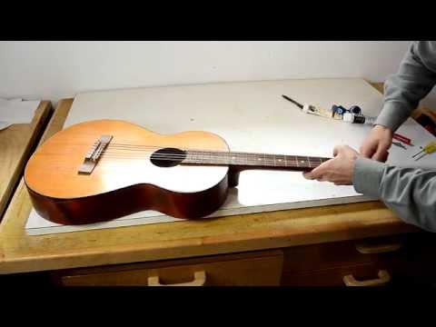 Neck reset on a junk guitar