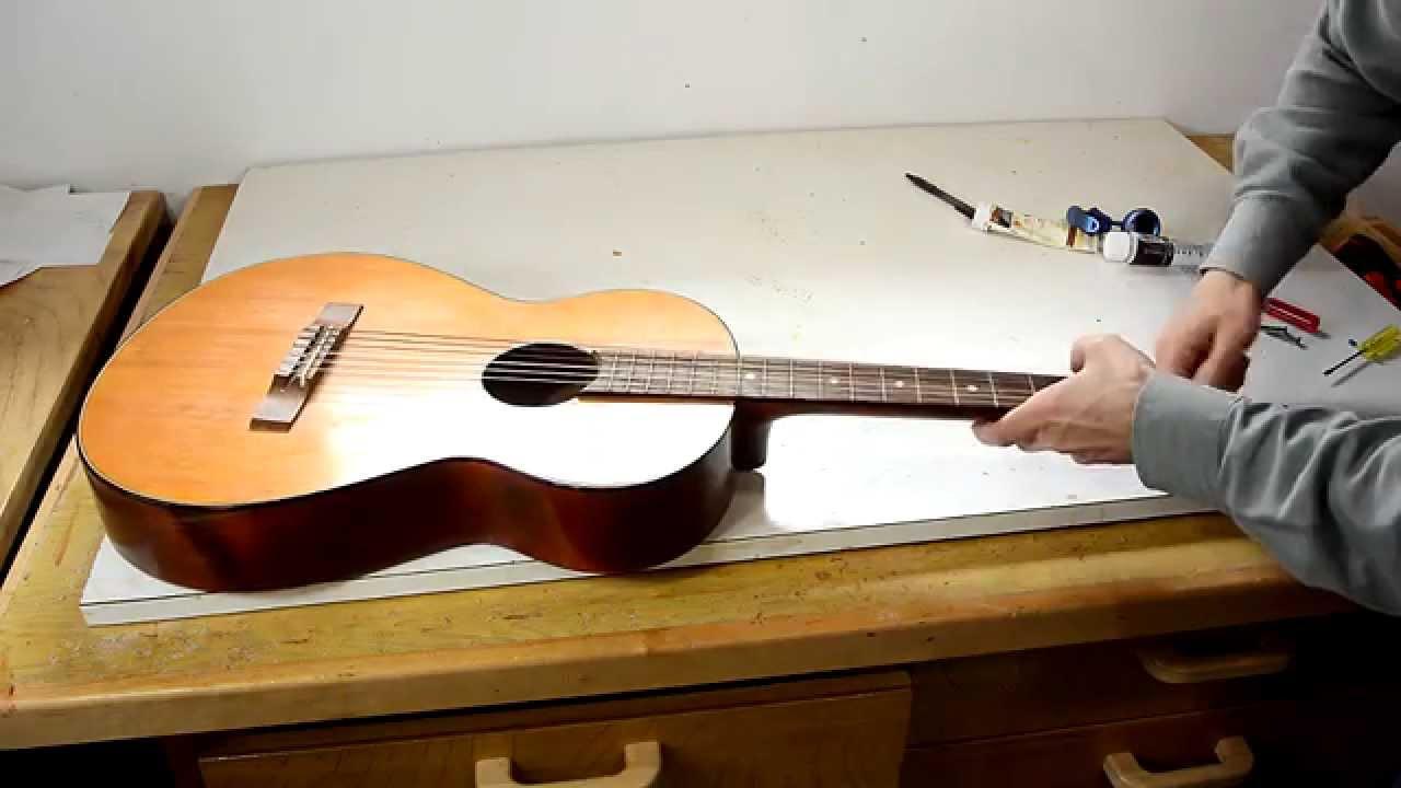 neck reset on a junk guitar youtube. Black Bedroom Furniture Sets. Home Design Ideas