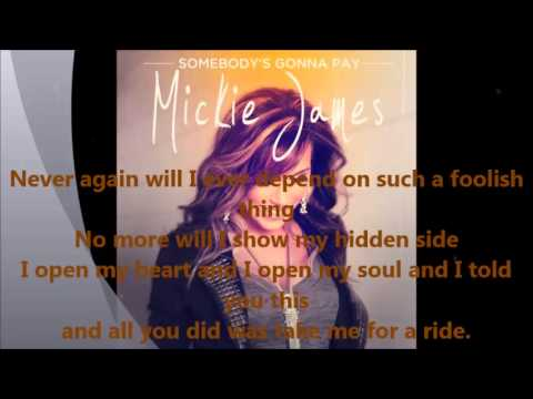 Mickie James - Somebody's Gonna Pay (Official Lyric Video)