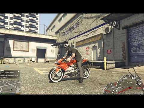 """GTA V Mod - Siêu môtô """"khủng"""" Ducati 1199 Panigale (hơn 1 tỷ đồng)"""