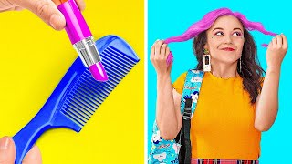 AMAZING BEAUTY HACKS EVERY GIRL SHOULD TRY! || Funny Girly Tips by 123 Go! Live