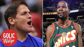 Adam Silver: Mark Cuban-Dallas Mavericks probe, Seattle SuperSonics return? | Golic & Wingo