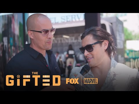 Coby Bell & Blair Redford Pull A Mutant Hunting Stunt At ComicCon  Season 1  THE GIFTED