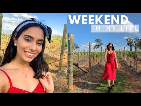 WEEKEND IN MY LIFE VLOG | HUNTER VALLEY AUSTRALIA | KANGAROOS, WINE & CHEESE | bySanjna