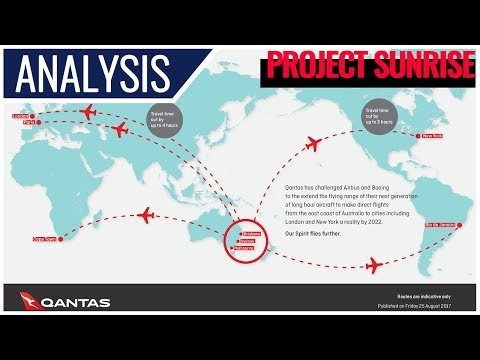 Qantas Project Sunrise: A350-1000ULR vs B777-8