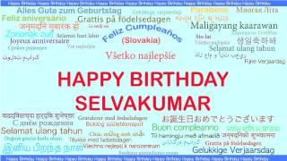 Selvakumar   Languages Idiomas - Happy Birthday