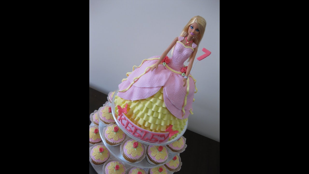 Youtube Frozen Barbie Cake