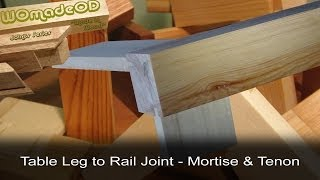 Table Leg To Rail Joint - Mortise & Tenon