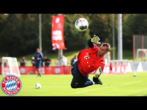 FC Bayern Training Session – Neuer, Coutinho, Lewy & Co. after the Victory against 1. FC Köln