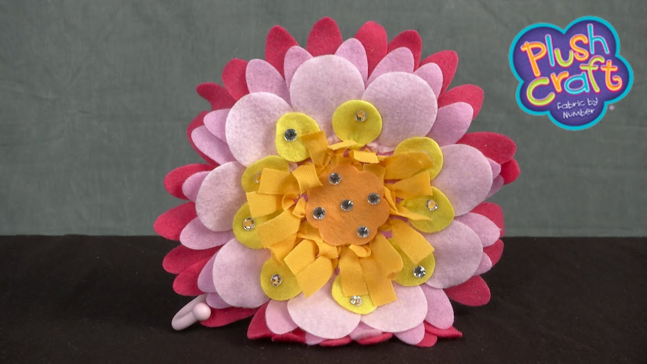 plush craft flower wall hook from the orb factory