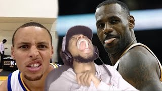 THE GOATS! STEPHEN CURRY & LEBRON JAMES FUNNIEST MOMENTS REACTION