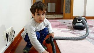 Berat Odayı Süpürdü. Eğlenceli Çocuk Videosu