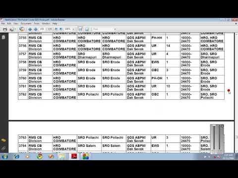 RMS Cb Division Coimbatore Post Office Vacancies