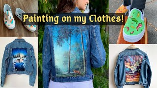 Painting on my Clothes! (8 Different Paintings)