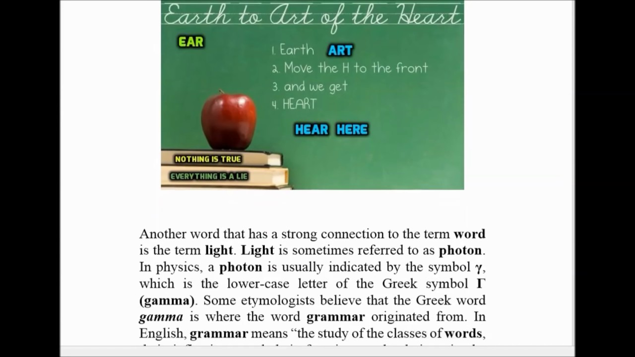 Deception Of The English Language Phonics Etymology Definition