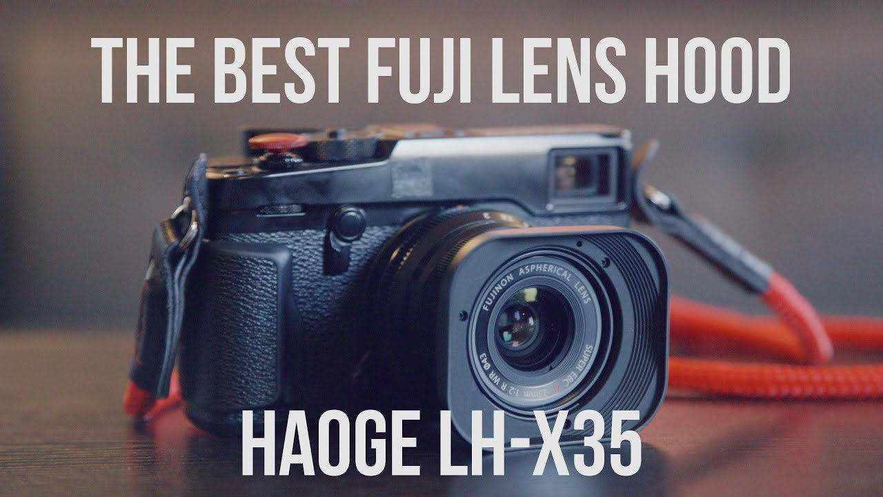 Best Fuji lens hood alternative!! The Haoge LH-x35  Classic Leica look