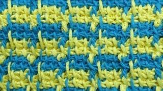 Гусиные лапки Узор крючком  Tunisian crochet pattern 58