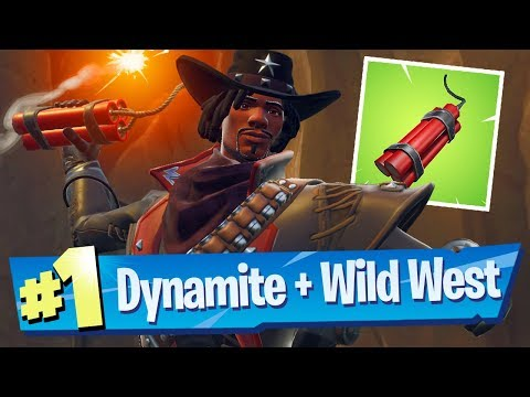 NEW Dynamite Item + Wild West Gameplay  Fortnite Battle Royale