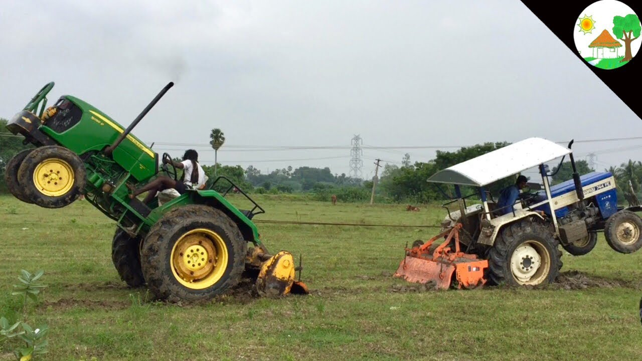 3f521121bb1 Swaraj 744 vs John deere / Tractor tochan and tractor pulling / tractor vs  tractor -Come to village