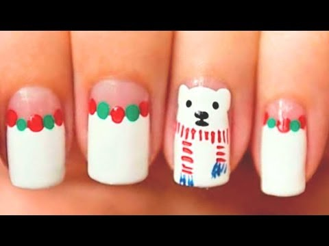 Polar Bear Nail Art Tutorial