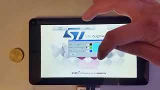 """7"""" TFT + Segger emWin + STM32F429 Discovery + PCAP   Interface: DPI"""
