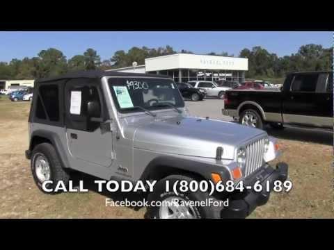 2004 jeep wrangler tj se 4x4 review car videos for sale ravenel ford charleston sc youtube. Black Bedroom Furniture Sets. Home Design Ideas