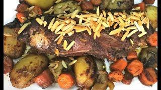 رقبة خروف مشوية مع الخضار || Grilled lamb neck with vegetables