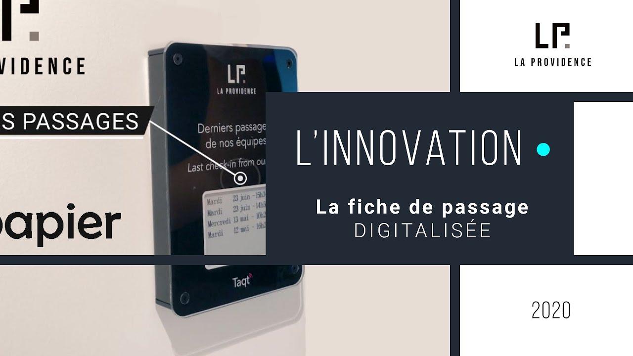 Feuille de passage digitalisée & Capteur de flux by La Providence