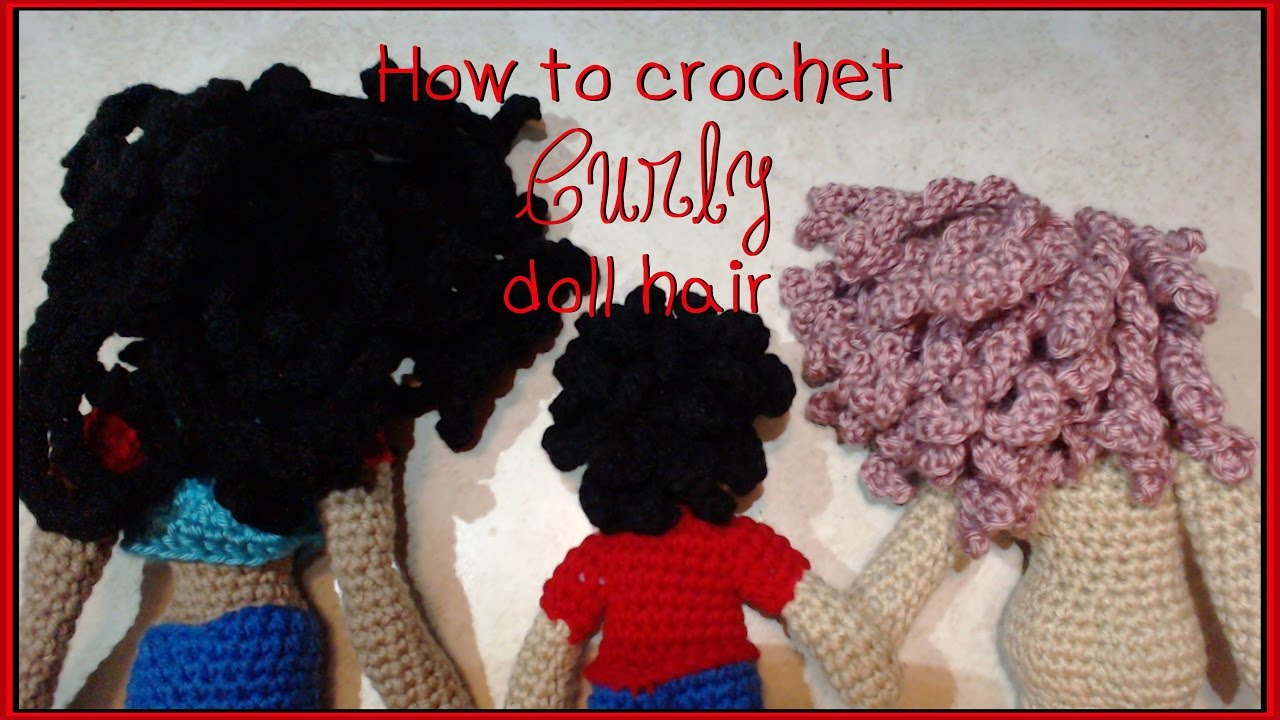 Amigurumi photo tutorial how to hair doll crochet | Bambole di ... | 720x1280