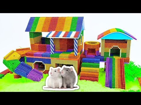 DIY - Build Amazing Hamster House Rainbow Slide With Magnetic Balls (Satisfying) - Magnet Balls