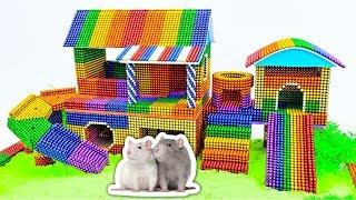 DIY - Build Amazing Hamster House Rainbow Slide With Magnetic Balls (Satisfying) - Magnet Balls
