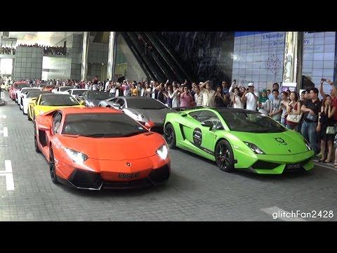 2016 Brainy Car Rally ft Lamborghini Club of Singapore - Flag off w/ Loud Revs!