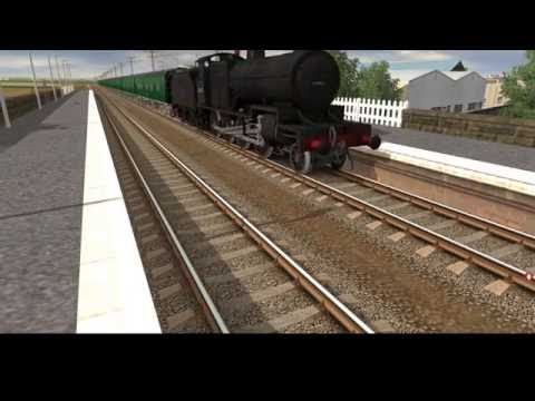 Trainz Spotting on ECML: Steam Trains passing through the station |