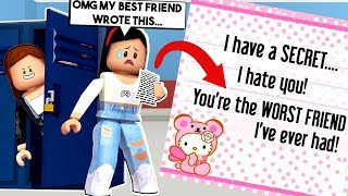 I FOUND OUT MY BEST FRIEND'S BIG SECRET! *SHE GOT EXPOSED* - Roblox